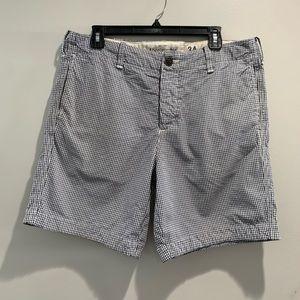 A&F checkered shorts